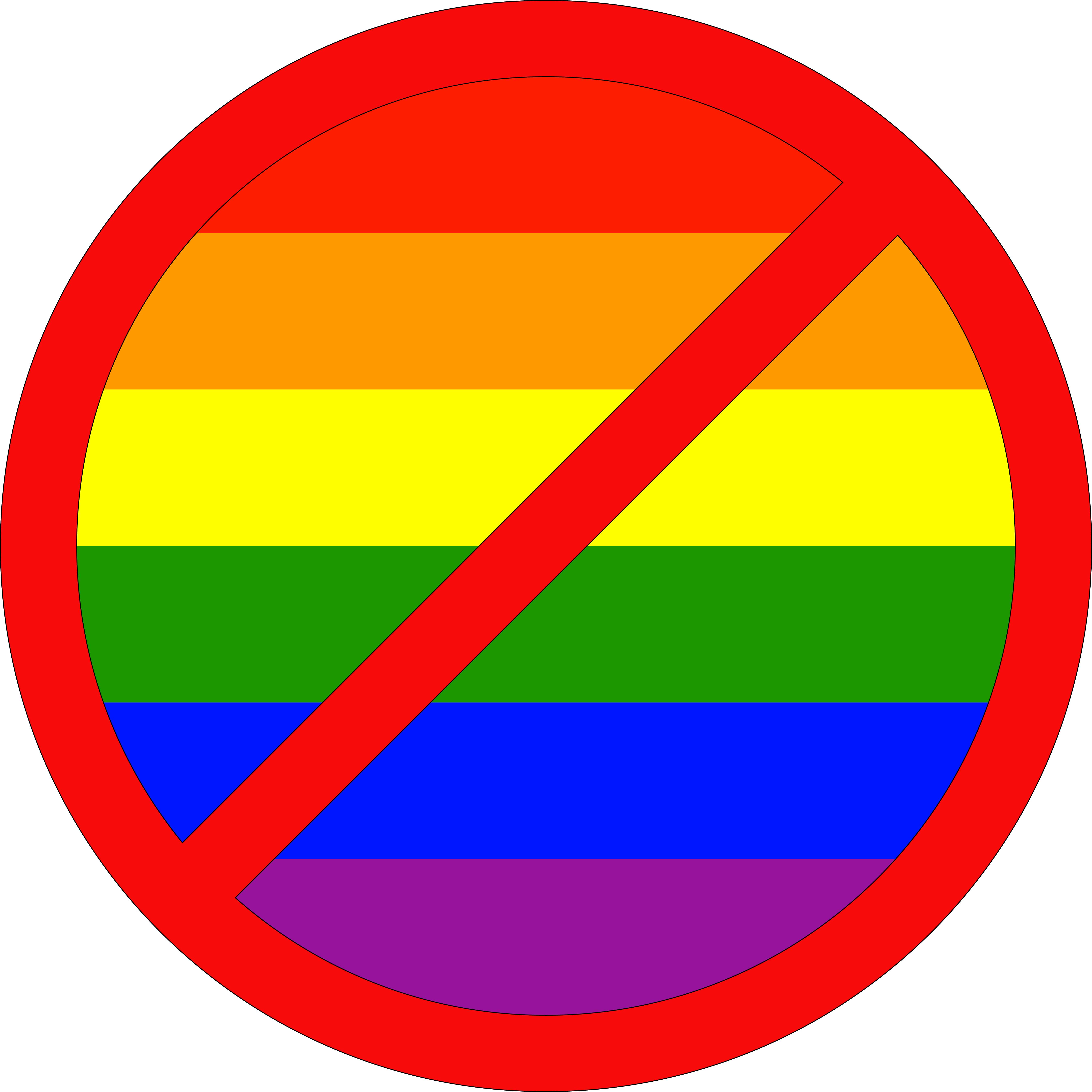 Anti Gay Sign 35
