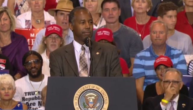 Group Seeks Investigation of Ben Carson's Appearance at Trump Event