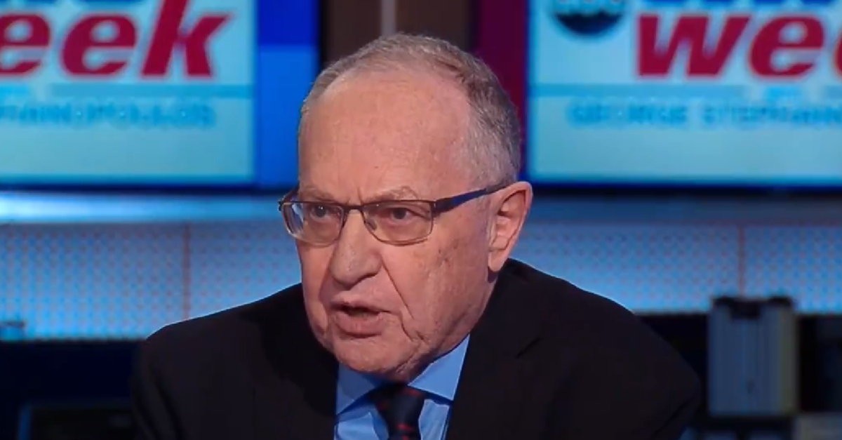 Judge Denies Dershowitz's Motion to Dismiss Accuser's Defamation Lawsuit, But Does Disqualify Her Lawyers