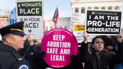 An abortion protest