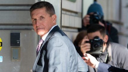 Former US National Security Advisor General Michael Flynn arrives for his sentencing hearing at US District Court in Washington, DC on December 18, 2018.
