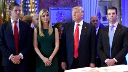 Eric Trump, Ivanka Trump, President Trump, Donald Trump, Jr.