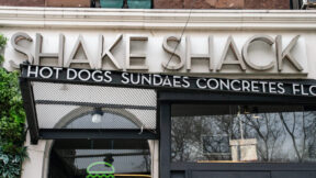 NEW YORK, NY - APRIL 20: Exterior view of a Shake Shack restaurant on April 20, 2020 in New York City. Shake Shack announced that they will return a $10 million government loan meant for small businesses.