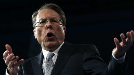 NATIONAL HARBOR, MD - MARCH 15: Wayne LaPierre, CEO of the National Rifle Association, delivers remarks during the second day of the 40th annual Conservative Political Action Conference (CPAC) March 15, 2013 in National Harbor, Maryland. The American conservative Union held its annual conference in the suburb of Washington, DC, to rally conservatives and generate ideas.
