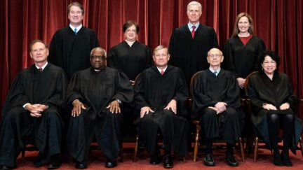 The 9 Supreme Court justices pose for a group picture in 2021