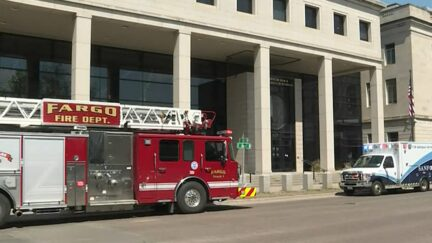 Fargo Courthouse pictured after defendant dies by suicide