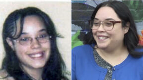 Before and after photographs of former kidnapping survivor Gina DeJesus