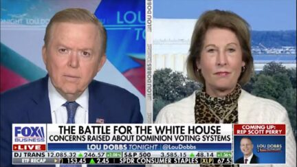 Former Fox host Lou Dobbs interviews Sidney Powell.