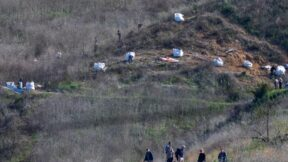 Authorities investigating the site that took the lives of nine people, including Kobe Bryant.