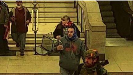 Jamie and Jennifer Buteau inside the US Capitol on Jan. 6 2021