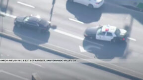 LAPD chase suspected car thief in possibly stolen Audi