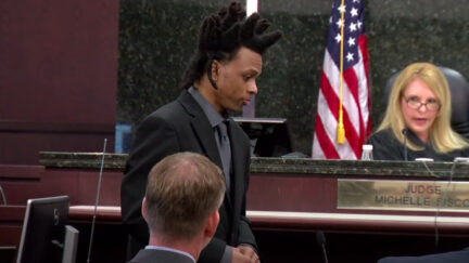Ronnie Oneal III questioning his son during his own murder trial.