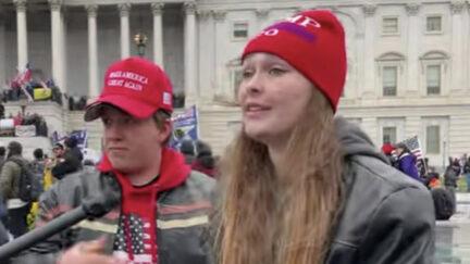 Savannah McDonald and Nolan Kidd discuss the Capitol riot on video