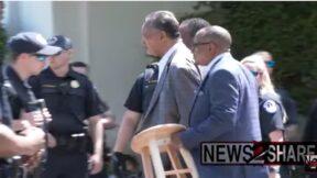 Jesse Jackson is arrested at DC protest