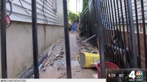 Yard where 3-year-old boy was mauled by pitbulls