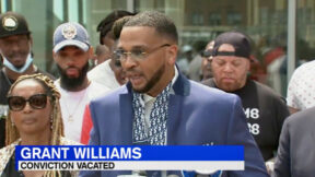 Grant Williams speaks after his conviction is overturned