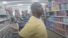 YouTuber ModernDayCaveman in Walmart