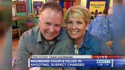 Christopher Hager and Gracie Hager are seen in a screengrab taken from WKYT television.
