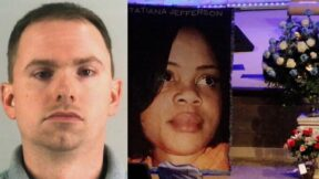 Aaron Dean booking photo, and Atatiana Jefferson funeral