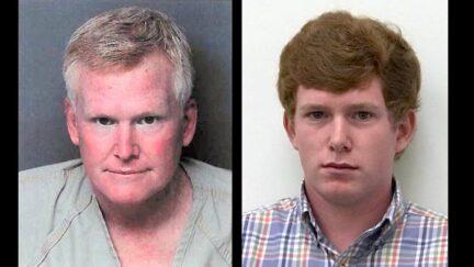 Alex Murdaugh (left) and his son Paul Murdaugh (right) appear in jail mugshots.