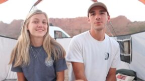 Gabrielle Petito and Brian Laundrie camping.