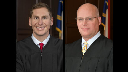 Judges Jefferson Griffin and Jeffery Carpenter appear in official state portraits.