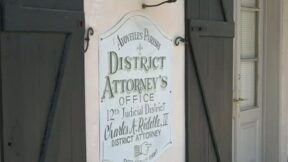 DA Charles Riddle office sign