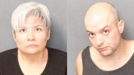 Booking photo of Diana Cantu, and Michael Garcia.