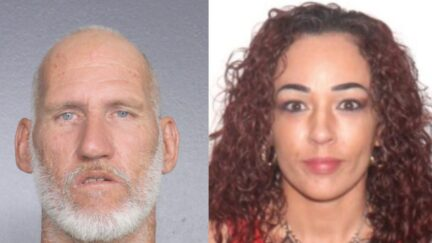 Booking photo of Eric Pierson, and image of Erika Maria Verdecia.