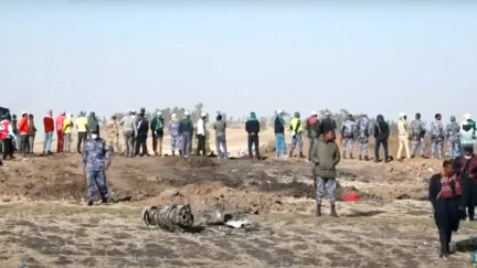 The scene of the Boeing 737 MAX crash near the town of Ejere, Ethiopia, appears in a screengrab from Seattle, Wash. NBC affiliate KING-TV.