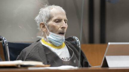 Robert Durst appears at an Oct. 14, 2021 sentencing hearing in Los Angeles. He was sent to prison for life and without the possibility of parole for the murder of Susan Berman in 2000.