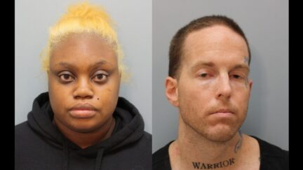 Booking photos of Gloria Yvette Williams, and Brian Ward Coulter.