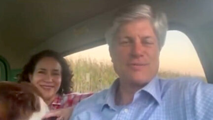 Jeff Fortenberry appears in a message to supporters on Oct. 19, 2021, as he was being indicted in California.