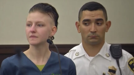 Julia Enright appears in court