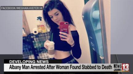 Meghan Kiefer seen on a local news broadcast