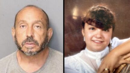 Suspect Paul Raymond Apodaca appears in a jail mugshot. Murder victim Stella Gonzales appears in a photo released by the Albuquerque Police Department.