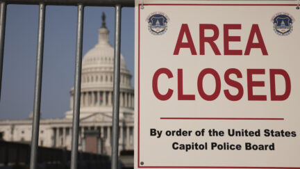 U.S. Capitol Police sign